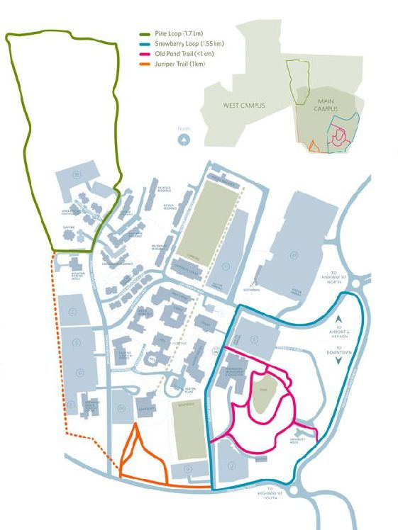 Ubc Okanagan Map Learn more about campus trails | Campus Health Ubc Okanagan Map